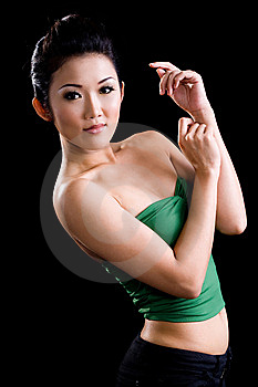 Stylish Young Woman Expression Stock Images - Image: 9442384