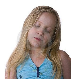 Melancholy Girl Stock Image - Image: 9445061