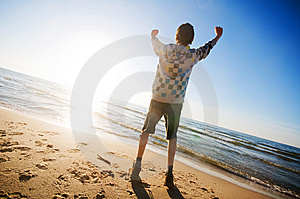 Happiness In The Beach Scenery Stock Images - Image: 9448494