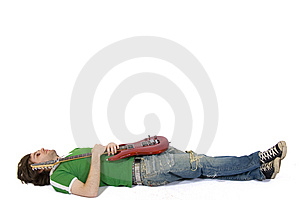 Pretend To Be Dead Artist Stock Photos - Image: 9450033