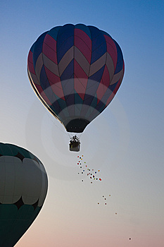 Hot Air Balloon Toss Stock Image - Image: 9452571