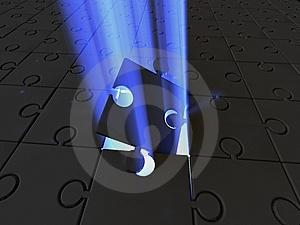 Puzzle. Light Stock Image - Image: 9453441