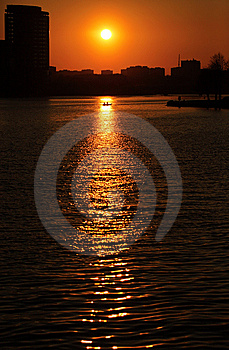 Sunset Over The City Royalty Free Stock Image - Image: 9456896