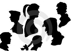 Silhouettes Of Heads Stock Image - Image: 9460961
