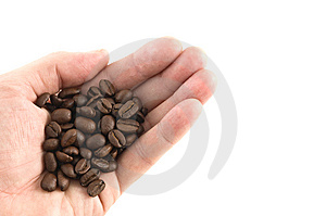 Handful Of Coffee Beans Stock Photos - Image: 9463783