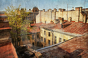 Old Red Roof Stock Photos - Image: 9465533