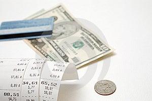 Cash Receipt Stock Image - Image: 9466541