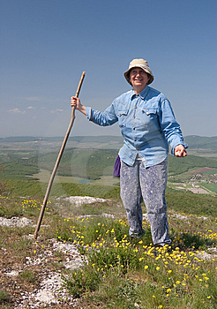 The Elderly Woman On Rest Stock Photos - Image: 9466573