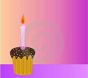 Chocolate Cake With Candles Stock Images - Image: 9467614