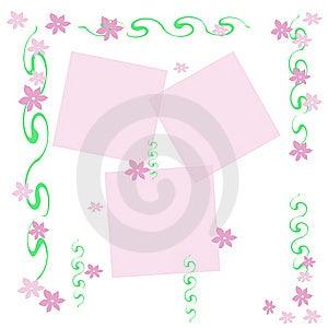 Feminine Flower Frame Stock Photography - Image: 9471642