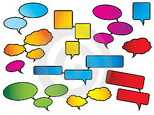 Bright And Colorful Speech Bubbles Stock Images - Image: 9472964