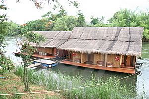 River Houses Royalty Free Stock Image - Image: 9475776