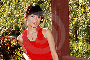 Asian Girl Outdoors Stock Image - Image: 9476791