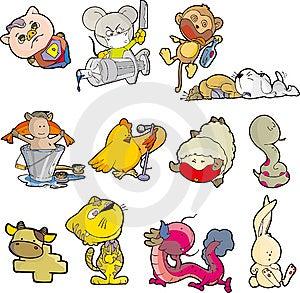 Animal Set Seven Stock Image - Image: 9480921