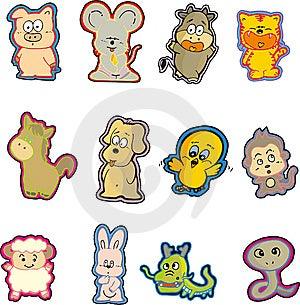 Animal Set Eight Royalty Free Stock Images - Image: 9480929