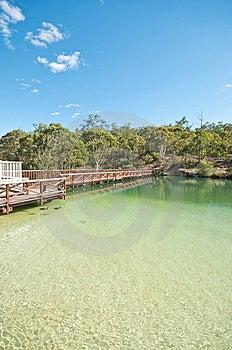 Bridge Beside Lake Stock Photo - Image: 9482490