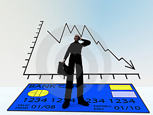 Credit Crises With Credit Card Stock Image - Image: 9484941