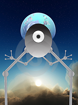 Alien Robot Royalty Free Stock Photos - Image: 9485708