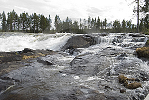 Storforsen Stock Photography - Image: 9485892