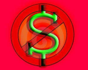 Anti Cash Royalty Free Stock Photos - Image: 9485968