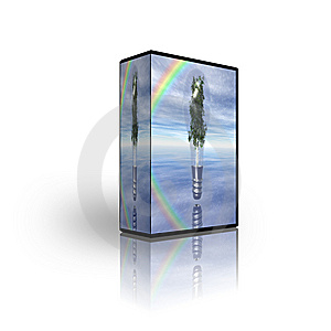 Blank CD DVD Box Template Royalty Free Stock Photo - Image: 9486555