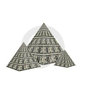 Dollar Pyramid Stock Images - Image: 9487174
