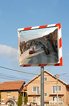 Traffic Mirror Royalty Free Stock Photography - Image: 9487997