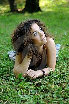 Bohemia Woman In A Park Royalty Free Stock Photos - Image: 9489758