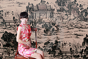 Chinese Girl In Traditional Dress Royalty Free Stock Images - Image: 9491329