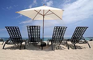 Chairs On Beach Royalty Free Stock Images - Image: 9493989