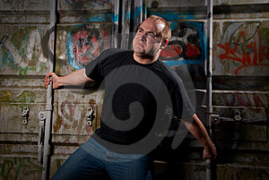 Powerful Man Expression Portrait Royalty Free Stock Image - Image: 9495136