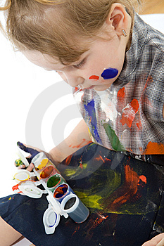 Cute Baby Paintings Stock Images - Image: 9495414