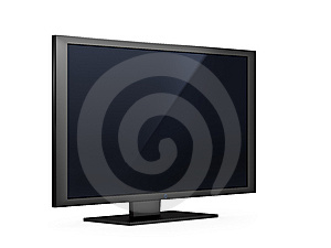 Flat LCD Tv Royalty Free Stock Image - Image: 9498346