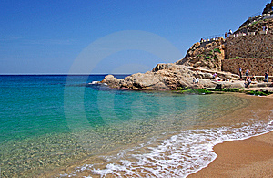 Beach In Tossa De Mar. Royalty Free Stock Photos - Image: 9498548