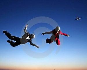 Sportsmen-parashutist Stock Image - Image: 9499011
