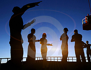 Group Of The Workers Royalty Free Stock Images - Image: 9499179