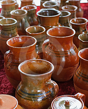 Ceramic Jugs Royalty Free Stock Photos - Image: 9499818
