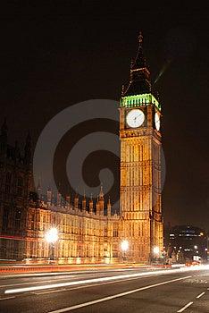 Big Ben At Night Scene Stock Image - Image: 9499921