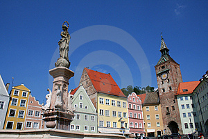 Landsberg Main Square Stock Photography - Image: 951622