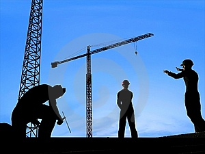 Group Of The Workers Stock Images - Image: 9500334