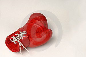 Red Boxing Glove Royalty Free Stock Image - Image: 9501376