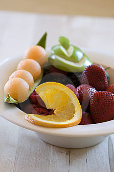 Highly Decorated Bowl Of Fruit Royalty Free Stock Photo - Image: 9502475