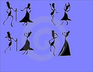 Formal Attire Dancers Royalty Free Stock Images - Image: 9504459