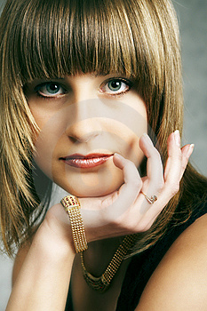Close Up Of Girl In A Dress Stock Images - Image: 9504794
