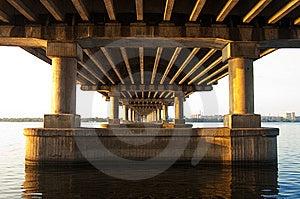 Bridge On Dnepr River Royalty Free Stock Photos - Image: 9504818