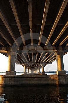 Bridge On Dnepr River Royalty Free Stock Photos - Image: 9504838