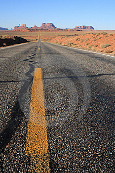 Road To Monument Valley Stock Photos - Image: 9507293