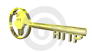 Golden Http Key Royalty Free Stock Photo - Image: 9507375