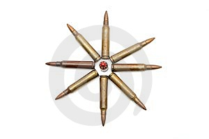 Eight-pointed Star Of Rifle Cartridges Royalty Free Stock Photos - Image: 9508868