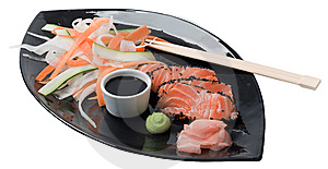 Japanese Inspired Salmon Stock Photos - Image: 9509213